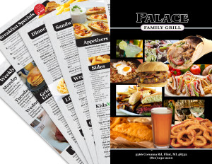 Restaurant Menu Design for Palace Restaurant